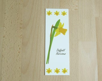 Daffodil Bookmark, Art Bookmark, Birthday Gift, Paper Bookmark, Book Lover Gift, Floral Gifts, Bookworm Gift, Gift for Her, Daffodil Gift