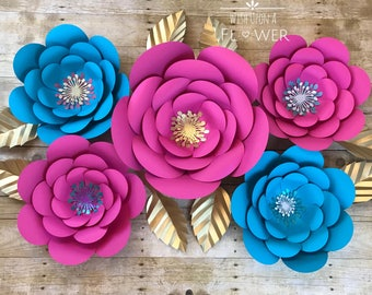 Large Paper Flowers, Paper Flowers, Giant Paper Flowers, Baby Shower Backdrop, Wedding Backdrop, Birthday Backdrop, Mermaid Birthday