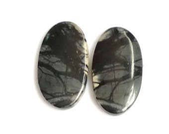 Picasso Jasper Oval Pair Cabochon,Size- 23x13 ,MM,Natural Picasso Jasper, AAA,Quality  Loose Gemstone, Smooth Cabochons.
