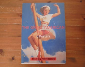 Taschen Posterbook, The Great American Pin-Up collection of 6 posters in excellent condition, each measuring 31x44cm