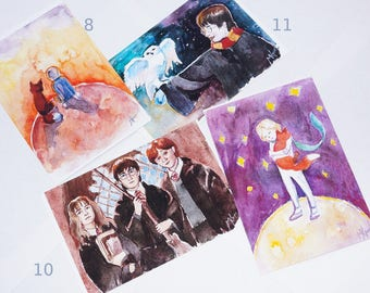 Author's watercolor cards, 10 pieces of your choice