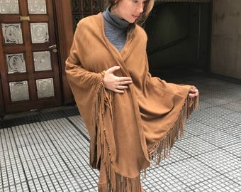 Handmade Leather Cape made from fine suede
