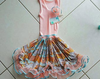 Revamped one off girls dress with tulle