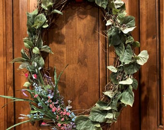 Spring Greenery Wreath