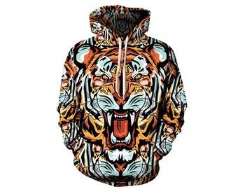 Tiger Hoodie, Tiger, Tiger Hoodies, Animal Prints, Animal Hoodie, Animal Hoodies, Tigers, Hoodie Tiger,Hoodie,3d Hoodie,3d Hoodies Style 10