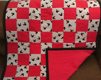 Minnie design patchwork quilt