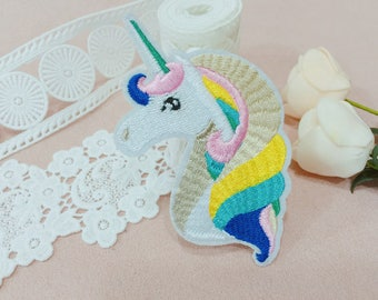 unicorn patch/iron on patch/sew on patch/embroidered patch /patch for jacket