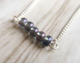 Necklace / minimalistic / silver / multi-color / gift | Necklace Multi Silver