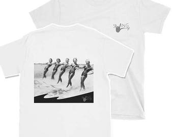 Men's Water skiing ladies (back print) Swing Dance Shirt - Swing Swag Dancer Gifts for Him Draft