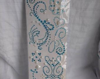 K&Company Adhesive Gems Blue Swirl 7pc *NEW*