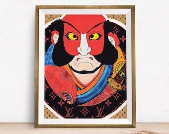 Louis Vuitton Supreme, Wall Art, Louis Vuitton Art, Supreme Art, Supreme, Printable Art, Louis Vuitton Print, Louis Vuitton Art, Samurai