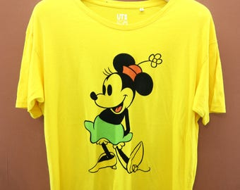 Vintage Minnie Mouse Disney T-Shirt Classic Animation Series Casual Wear Top Tee Size XL