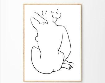 Matisse Print  Henri Matisse   Matisse Poster   Matisse Art   Matisse Cut Out   Fine Art Print   Female Nudity   Matisse Pink Wall Art