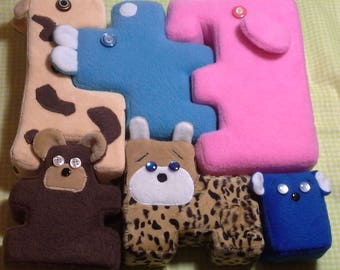 Friendly Beasts, Soft toy, Developing toy, Puzzle for children, Logical toy