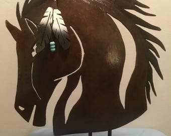 Horsehead cut out of Plow Disc