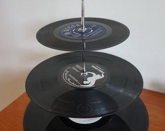 Vinyl Record 3-tier Cake Stand
