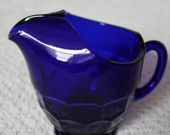 Cobalt Blue Small Pitcher