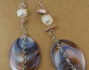 Shell Chain Drop Earrings