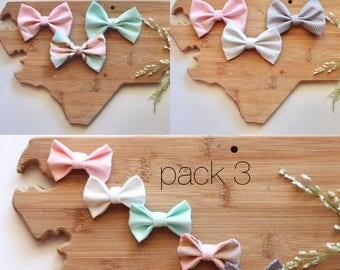 Nylon headband with bow - girl hair bow - Baby shower gift - newborn gift set - infant nylon headband set - stocking stuffer - fabric bow