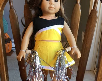 "Cheerleading outfit for 18"" doll such as American girl"