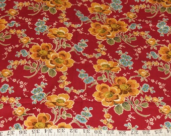 Dan River Anthropology 2005 Cotton Floral Shabby Chic Fabric 1 yard