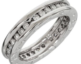 bvlgari bulgari bzero1 white gold 050ct diamond eternity band ring