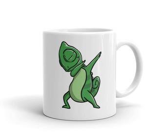 Cute Dabbing Chameleon Mug Funny Dab Dance Pet Gift