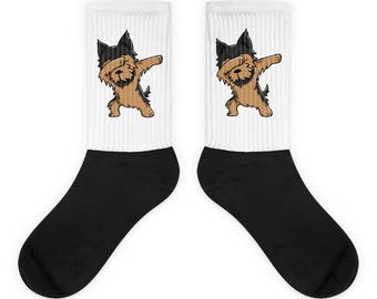 Funny Dabbing Yorkshire Terrier Socks, Cute Yorkshire Terrier Gift, Yorkie Dog Dab Dance Print