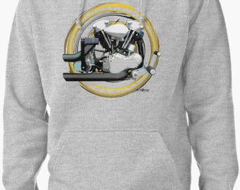 Harley Davidson Knucklehead 223 Motorcycle engine Hoodie INISHED Productions