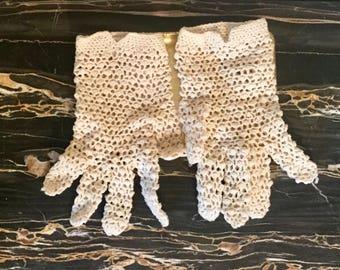 Vintage Crochet Gloves- Italy 1930s