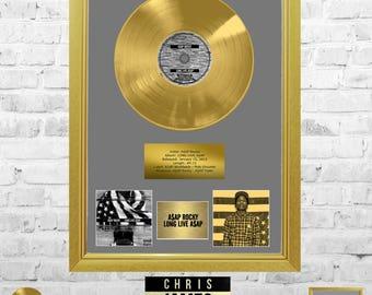 ASAP Rocky - Long.Live.ASAP Gold Frame Presentation Memorabilia Handmade