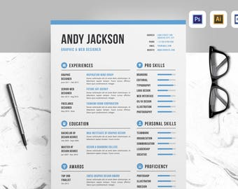 Resume / CV. Professional, clean, & creative template designed to make a good impression.