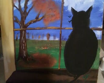 Cat on the window sill