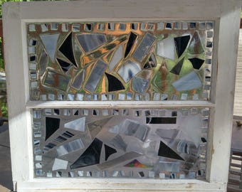 Resin Stained Glass Vintage Window