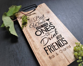 Personalized cutting board, Wedding Gift, Engagement gift, Anniversary gift, Engraved wooden cutting board, Kitchen decoration