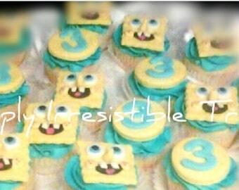 Spongebob Fondant Cupcake Toppers