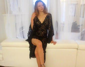 LACE KIMONO gown