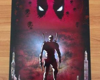 Deadpool Spray Paint Art