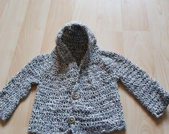 9-12 months grey cardigan/coat