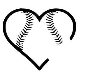 Baseball heart svg   Etsy