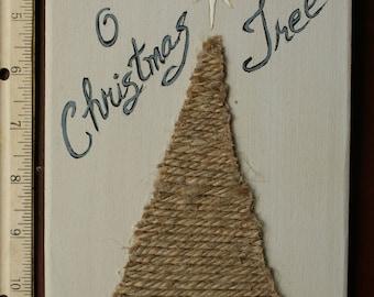 O Christmas Tree Placard