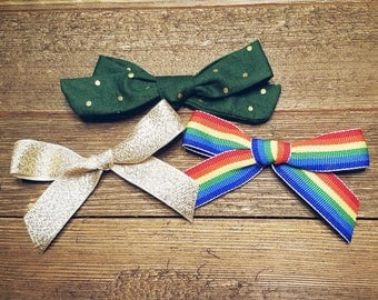 Pot O' Gold | Handmade Baby Hair Bow Set of 3