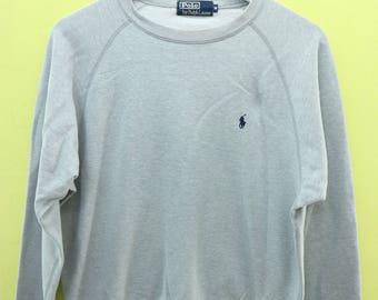 Vintage Polo Ralph Lauren Minimalist Logo Sweatshirt Designer Sweater Size M