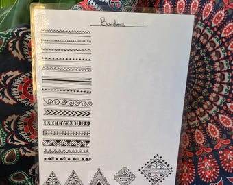 Henna Borders - Template