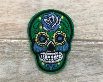 Sugar Skull Green (Skulls Patches)