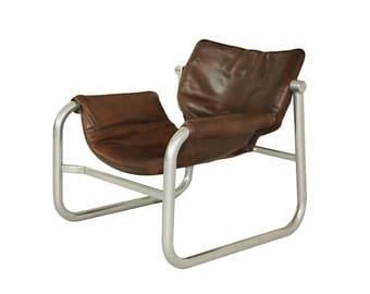 1960u0027s maurice burke leather sling chair for pozza brazil