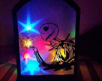 Nightmare before christmas lantern/ lanter/ whats this/ jack skellington/ christmas/ snow/ snowflake/ lights/ living room decor
