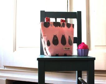 Handlebar bag, bicycle bag, ash