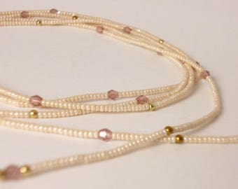 seed bead and crystal necklace
