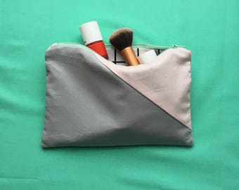 Handmade cotton make-up bag